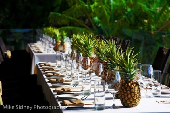 Pineapple Table Runner Centerpieces