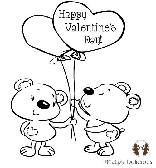 17 Best images about Digi Valentines – Valentine Cards for Kids to Color