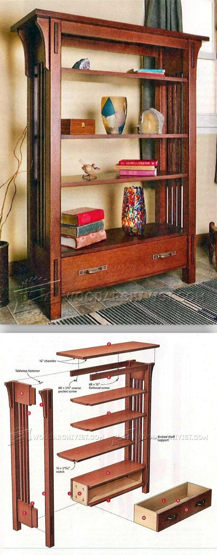 13++ Arts and crafts bookcase plans ideas in 2021