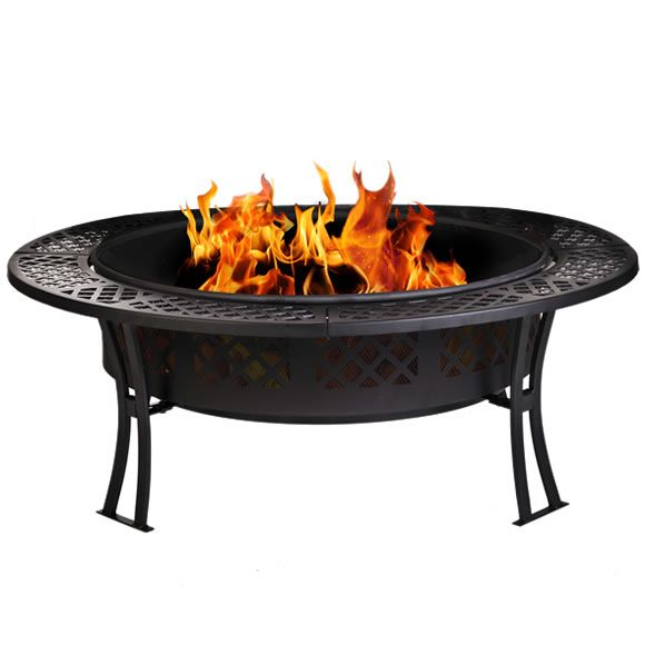 This Elegant Round Fire Pit Is Great For Enjoying Safe Warm Outdoor Fires In Your Own Backyard Or Patio Fire Pit Cool Fire Pits Fire Pit Furniture