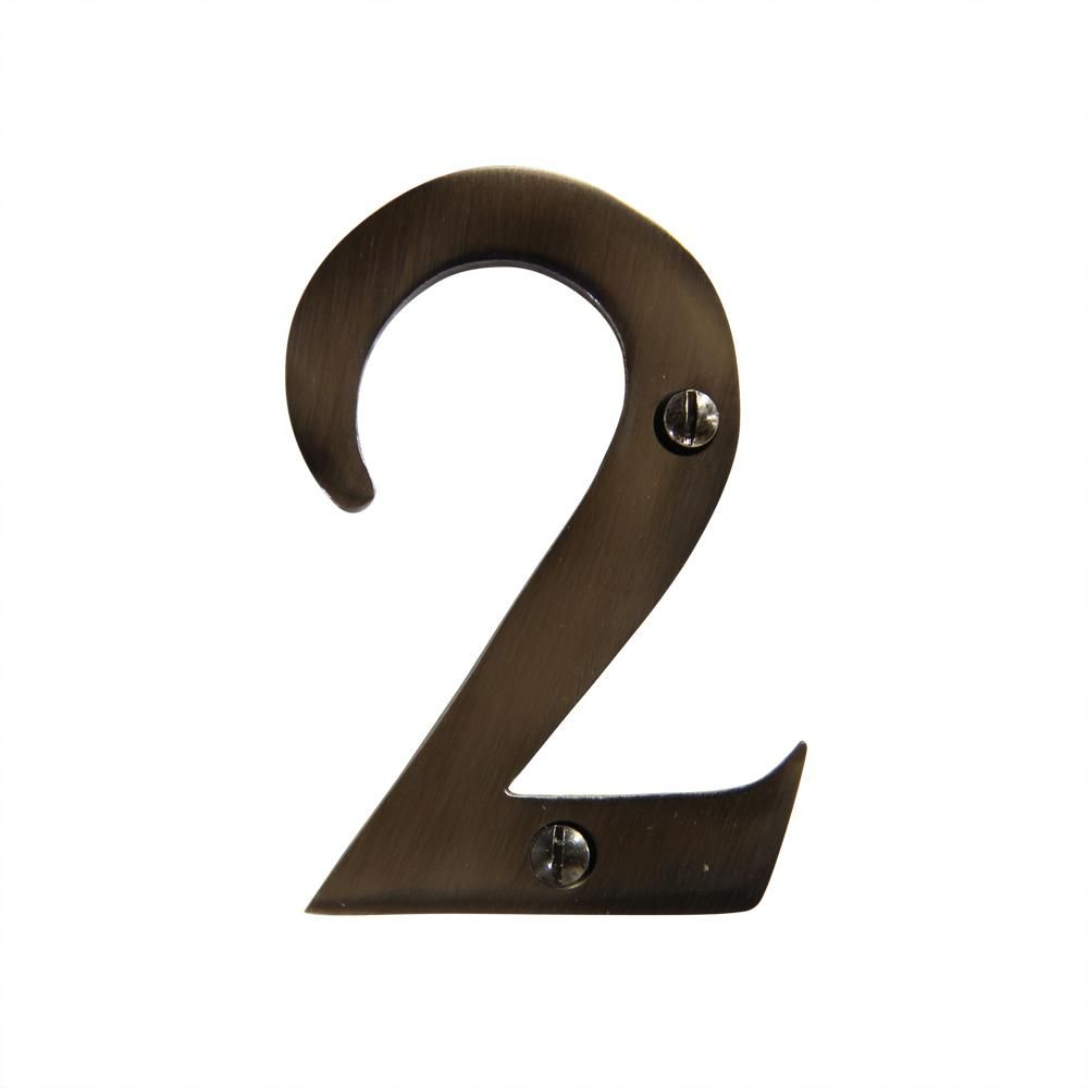 Modern 3 Inch Solid Br House Numbers Address Number