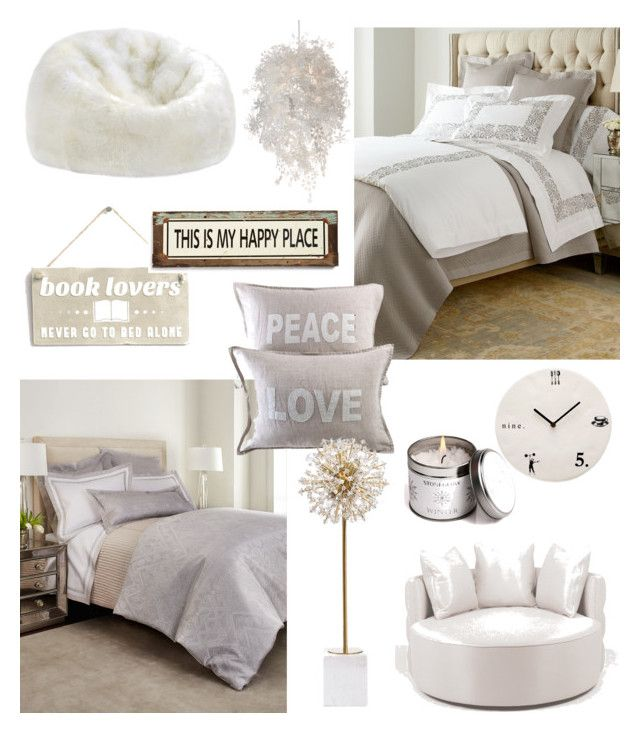 """""""two different bedrooms ; same decoration"""" by almontaha ❤ liked on Polyvore featuring interior, interiors, interior design, home, home decor, interior decorating, Sferra, Annie Selke Luxe, Pom Pom at Home and Albertine"""