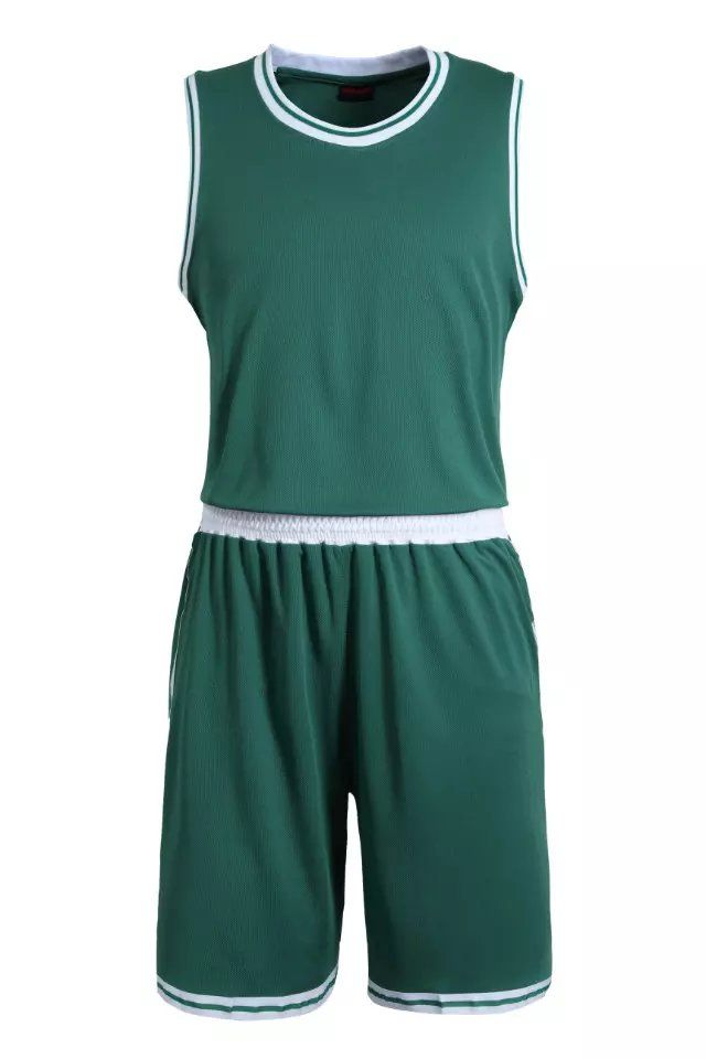 0bb3c8ef50a Green Blank Basketball Suit Team Name Logo Custom Usa Basketball Throwback  Cheap Sleeveless Basketball Uniforms Factory Wholesal