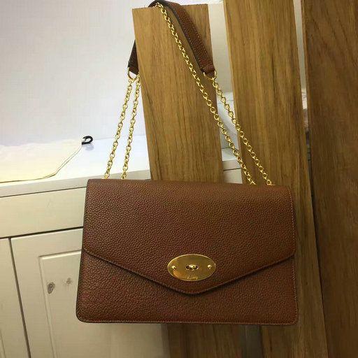 c1dac07d40 2017 Mulberry Large Darley Shoulder Bag Oak Grain Leather