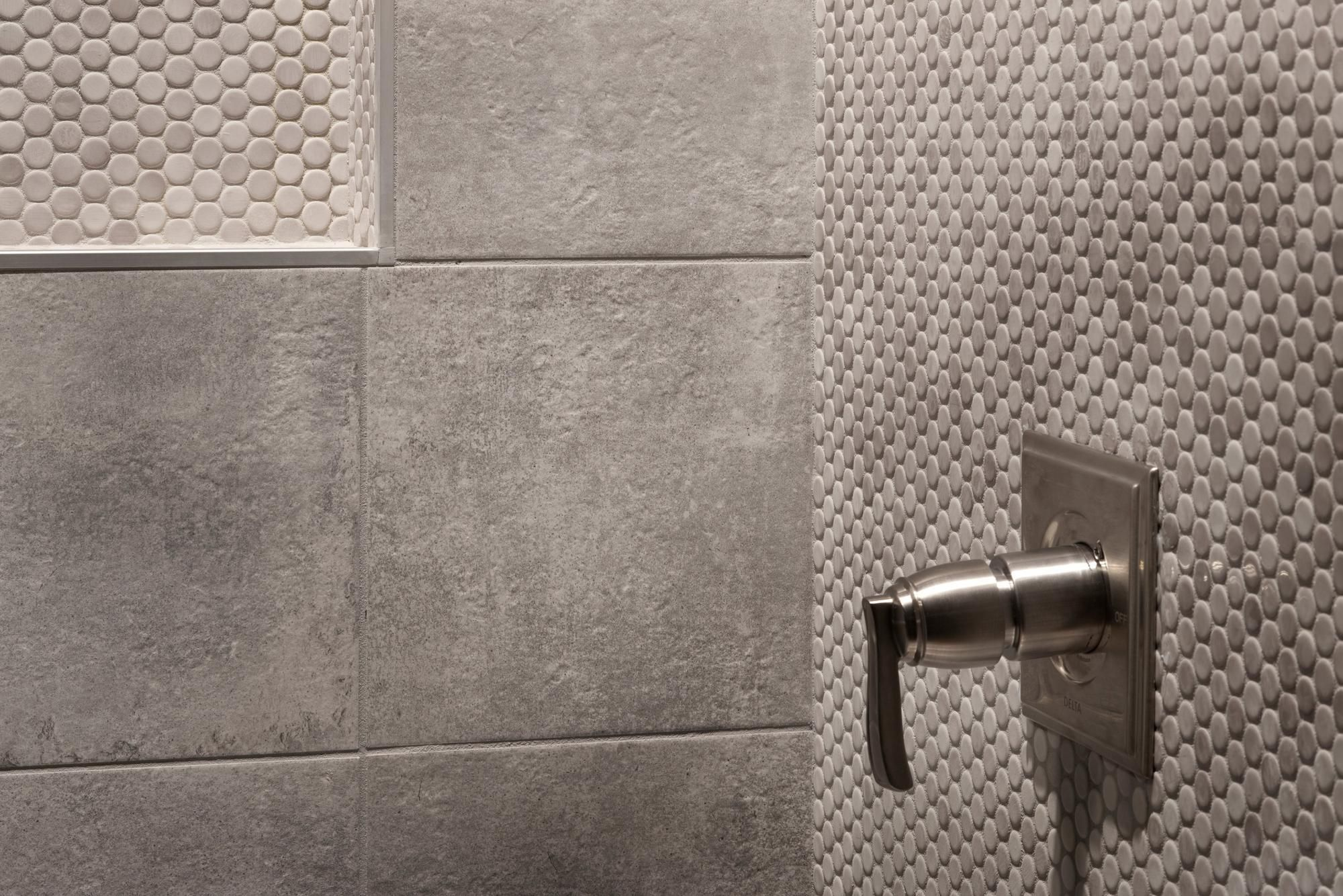 Gray Penny Porcelain Mosaic 10in X 12in 100053255 Floor And Decor