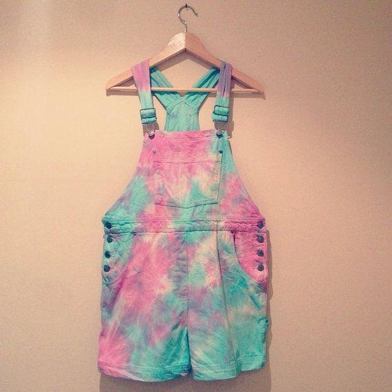 Pastel pink and blue vintage denim by CosmikDebrisClothing on Etsy, £26.00 #kawaii #harajuku