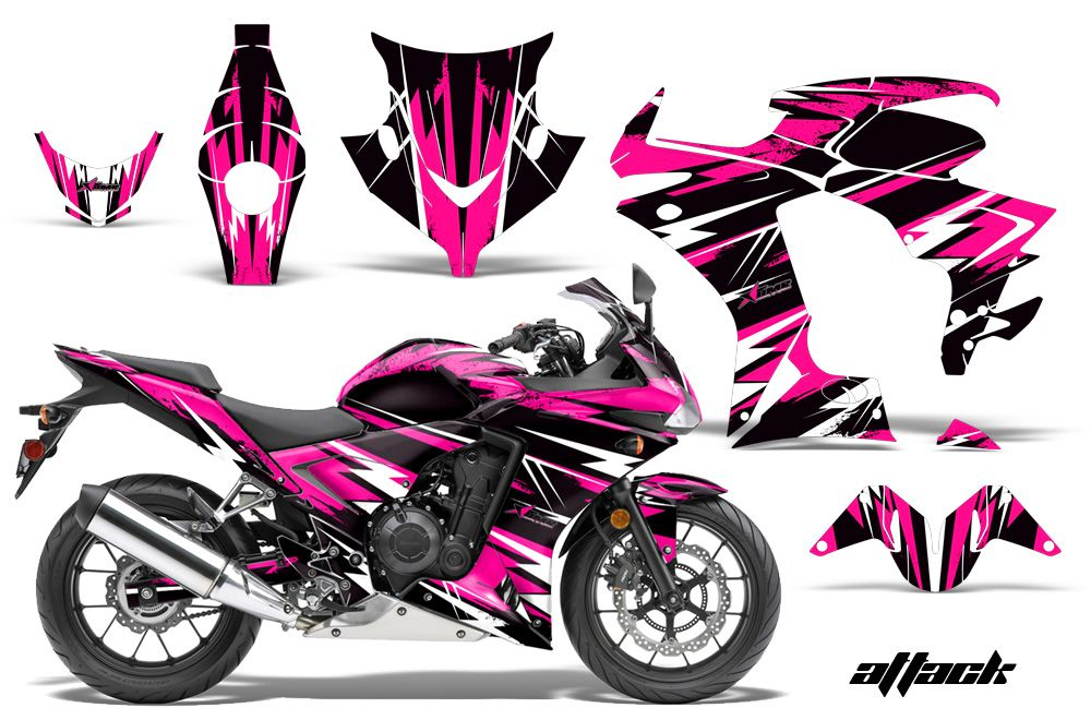 Honda CBRR Street Bike Graphic Decal Sticker Kit - Decal graphics for motorcyclesmotorcycle gas tank customizable stripes graphics decal kits