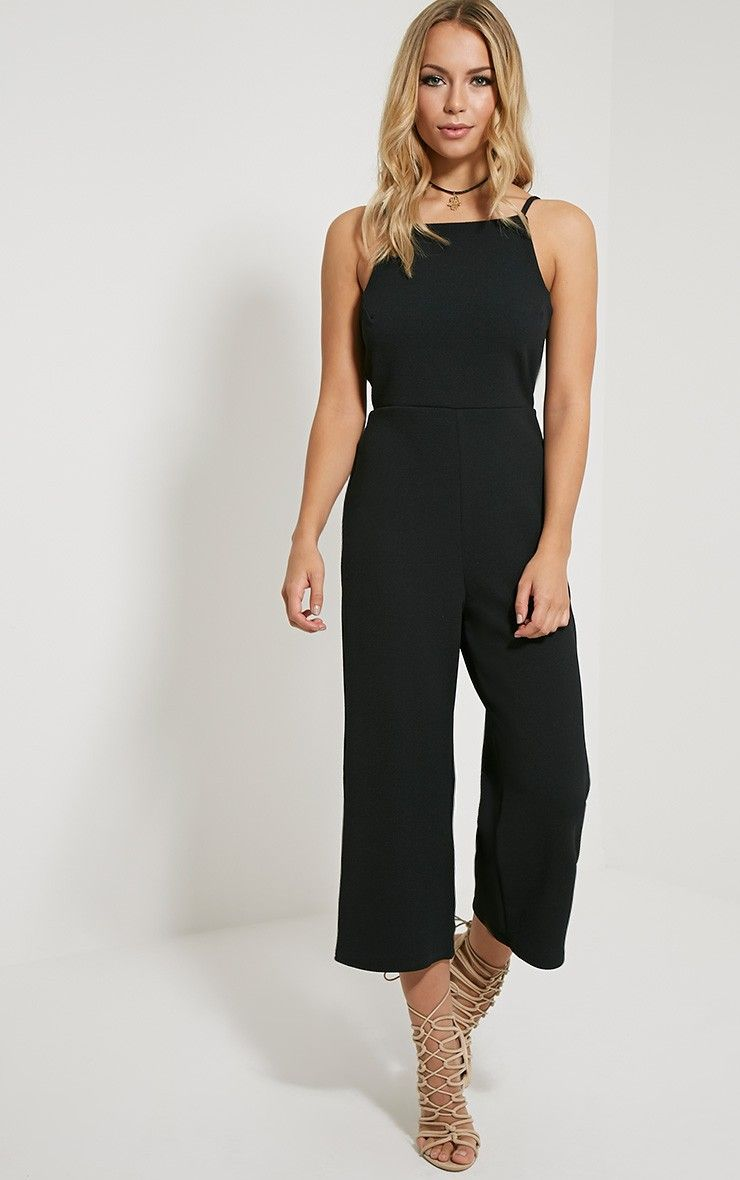 a20aa8bab9 Moses Black Culotte Jumpsuit