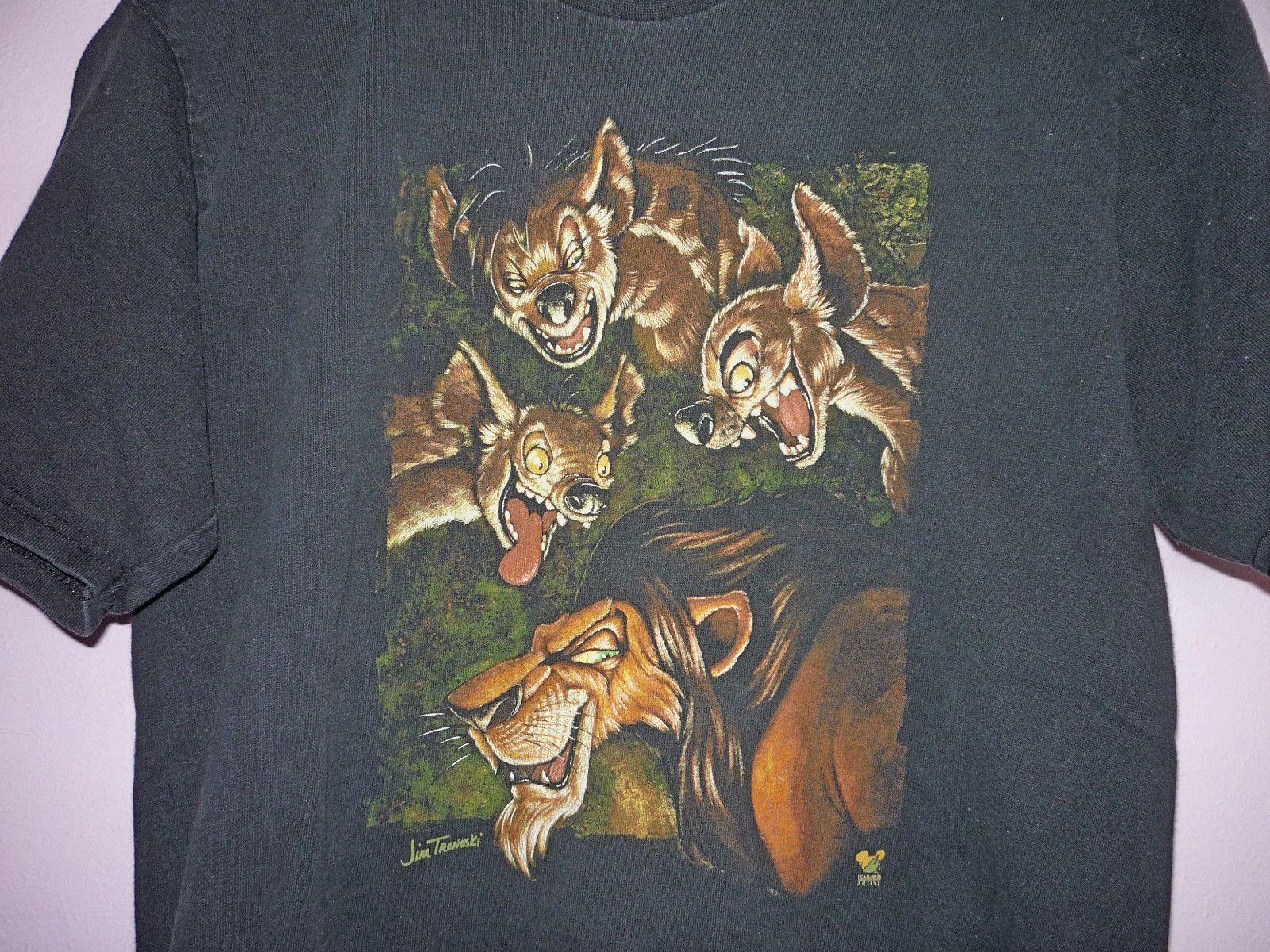 Disney the lion king scar hyenas shenzi banzai ed t shirt black m ebay