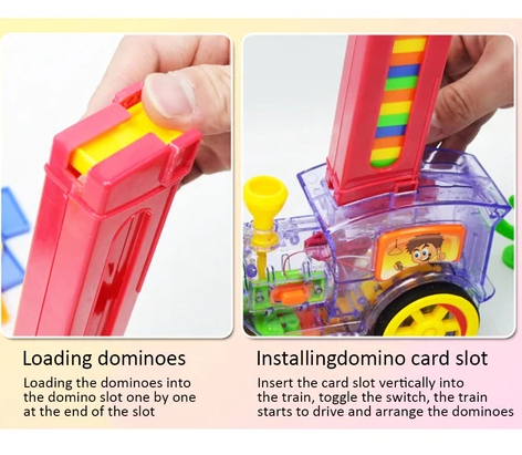 Automatic Domino Train – Biolausa in 2020   Toy train, Cool toys, Kids  imagination