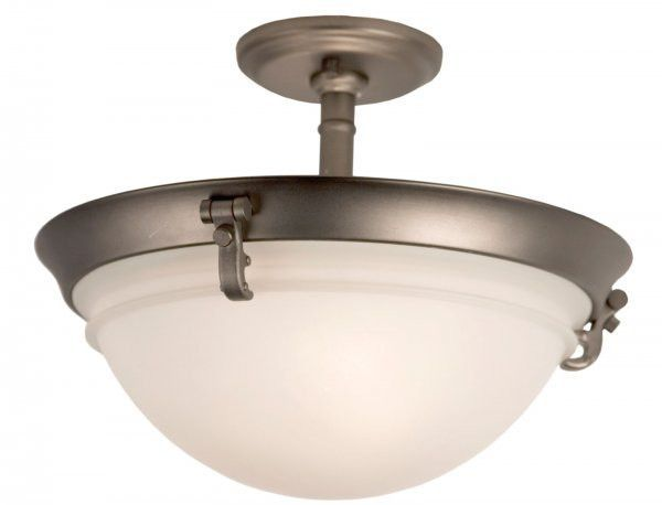 Price Pfister Ashfield 3 Light Semi Flushmount Rustic Pewter 7 78 H X 14 68 W 44 D At Harvey Haley For Only 63 99