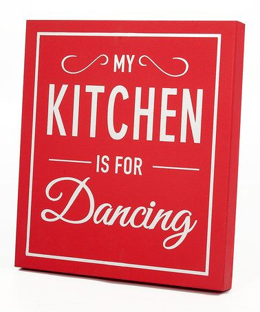 Take a look at this Red \'My Kitchen\' Wall Art by Twelve Timbers on ...