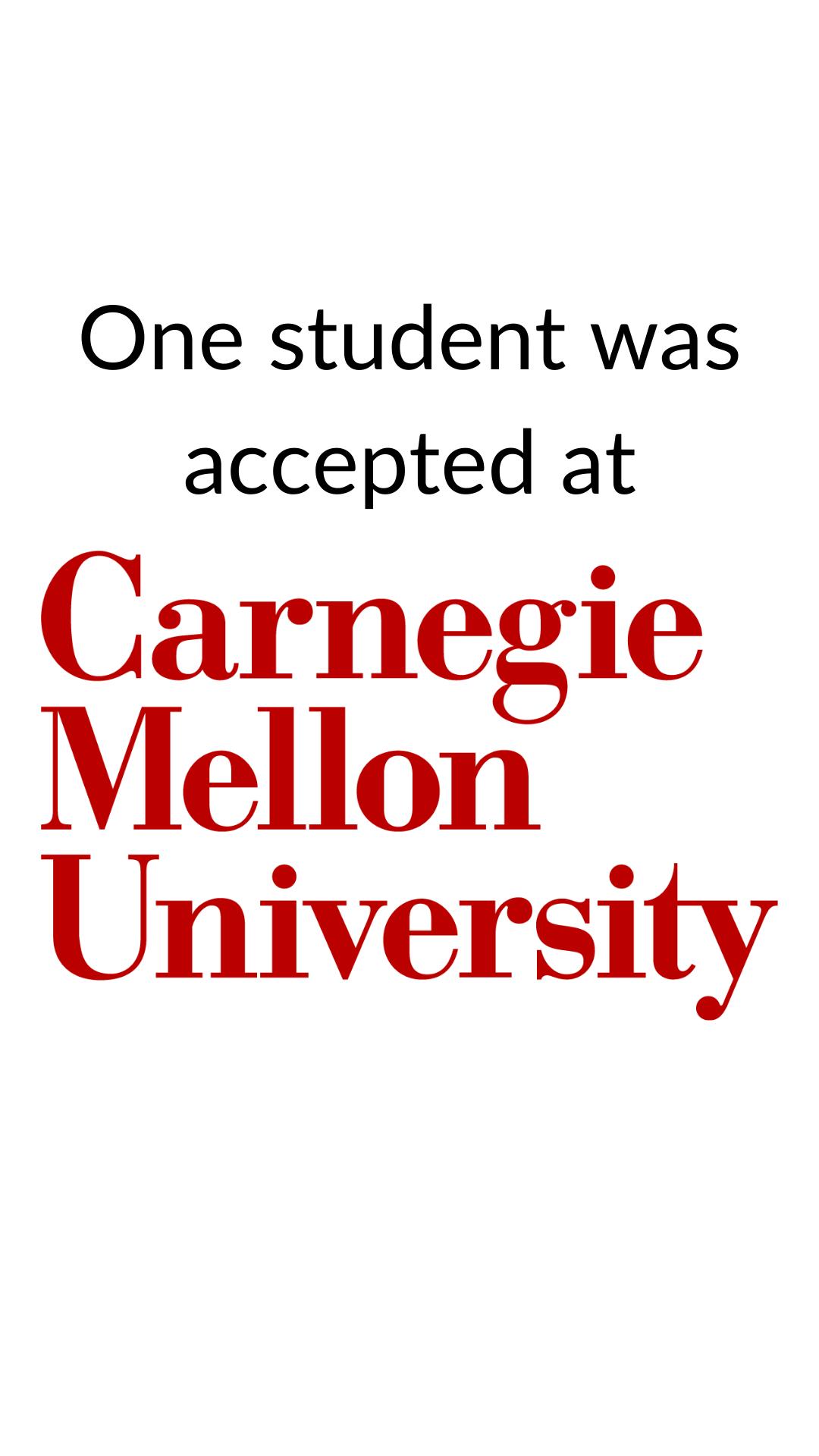 Carnegie Mellon University Acceptance in 2020 School