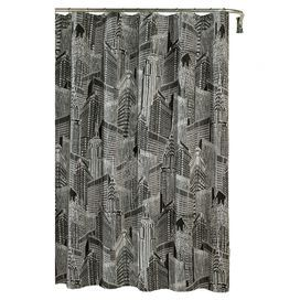 Cotton Duck Shower Curtain With An Architecture Motif Product