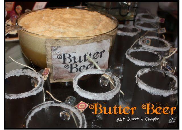 Butterbier  - evtl auch einfach Eis für die Bieroptik?