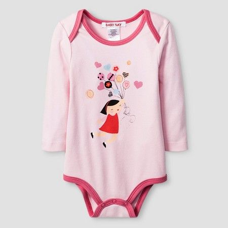 Target Baby Girl Clothes Custom Baby Nay® Baby Girls' Crazy Hearts Bodysuit  Pink  Target  Maddie Decorating Design