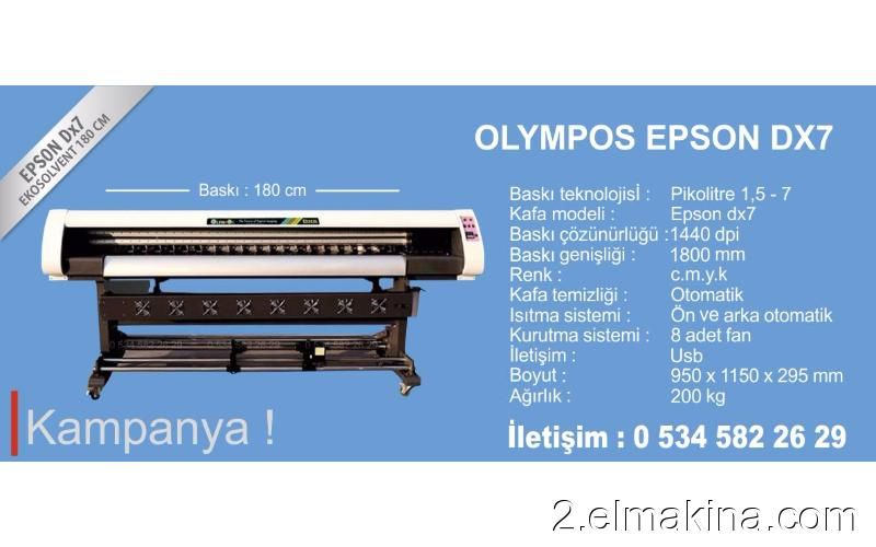 olympos epson dx7 dijital baski