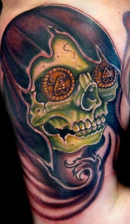 New School Skull Tatto...