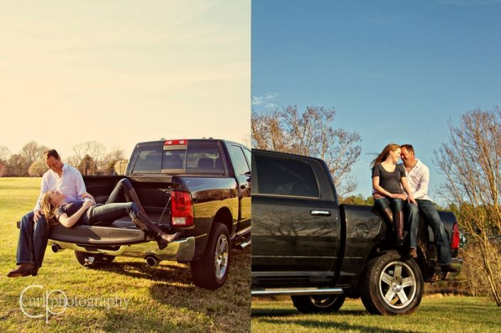 Engagement photos with truck – Lou & Lulu #bestfriendprompictures