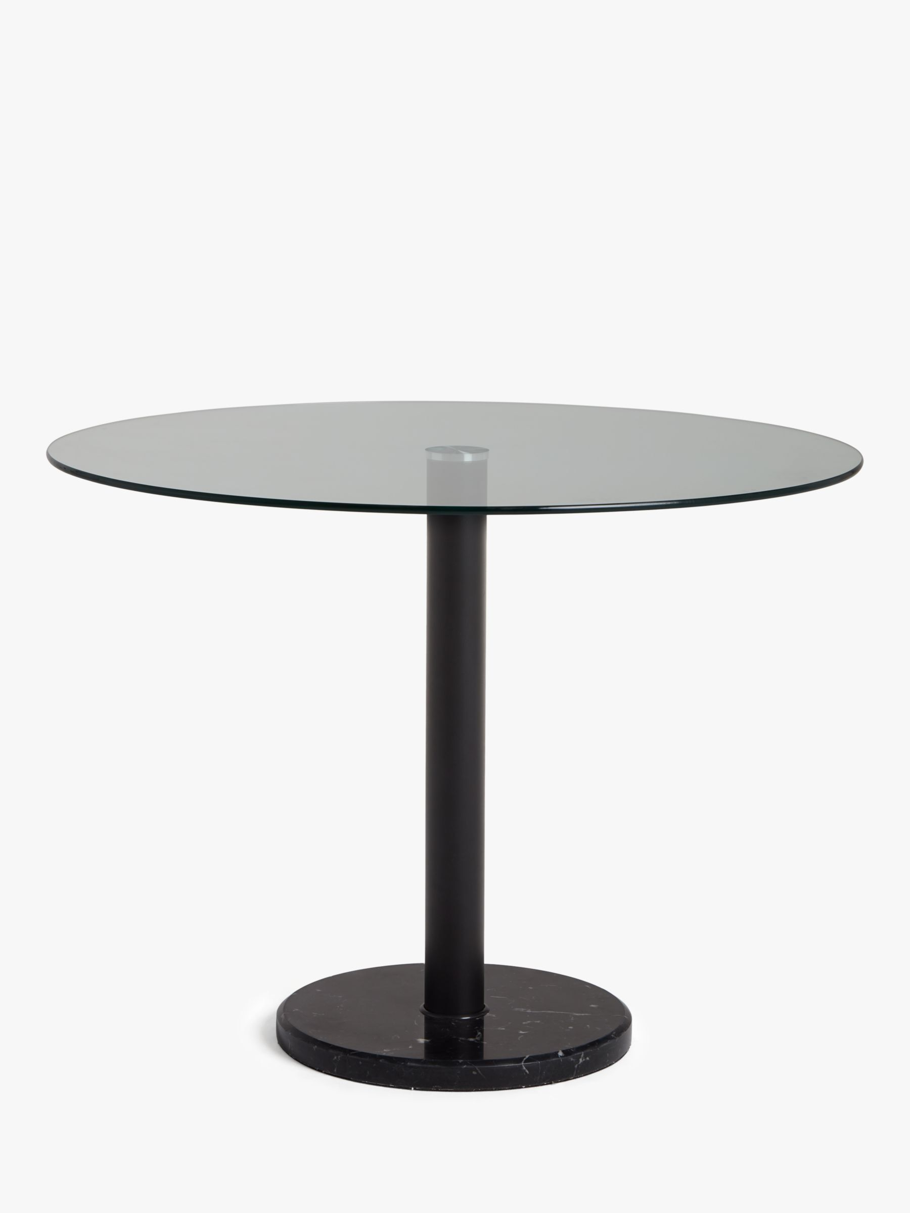 House by john lewis enzo 4 seater glass round dining table