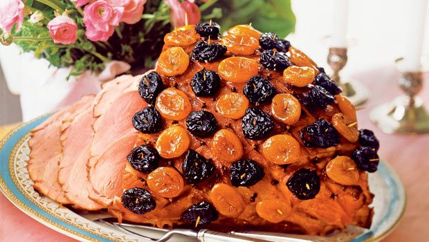 baked ham with glazed apricots prunes the ultimate easter feast by sheila lukins - Sheila Lukins Recipes