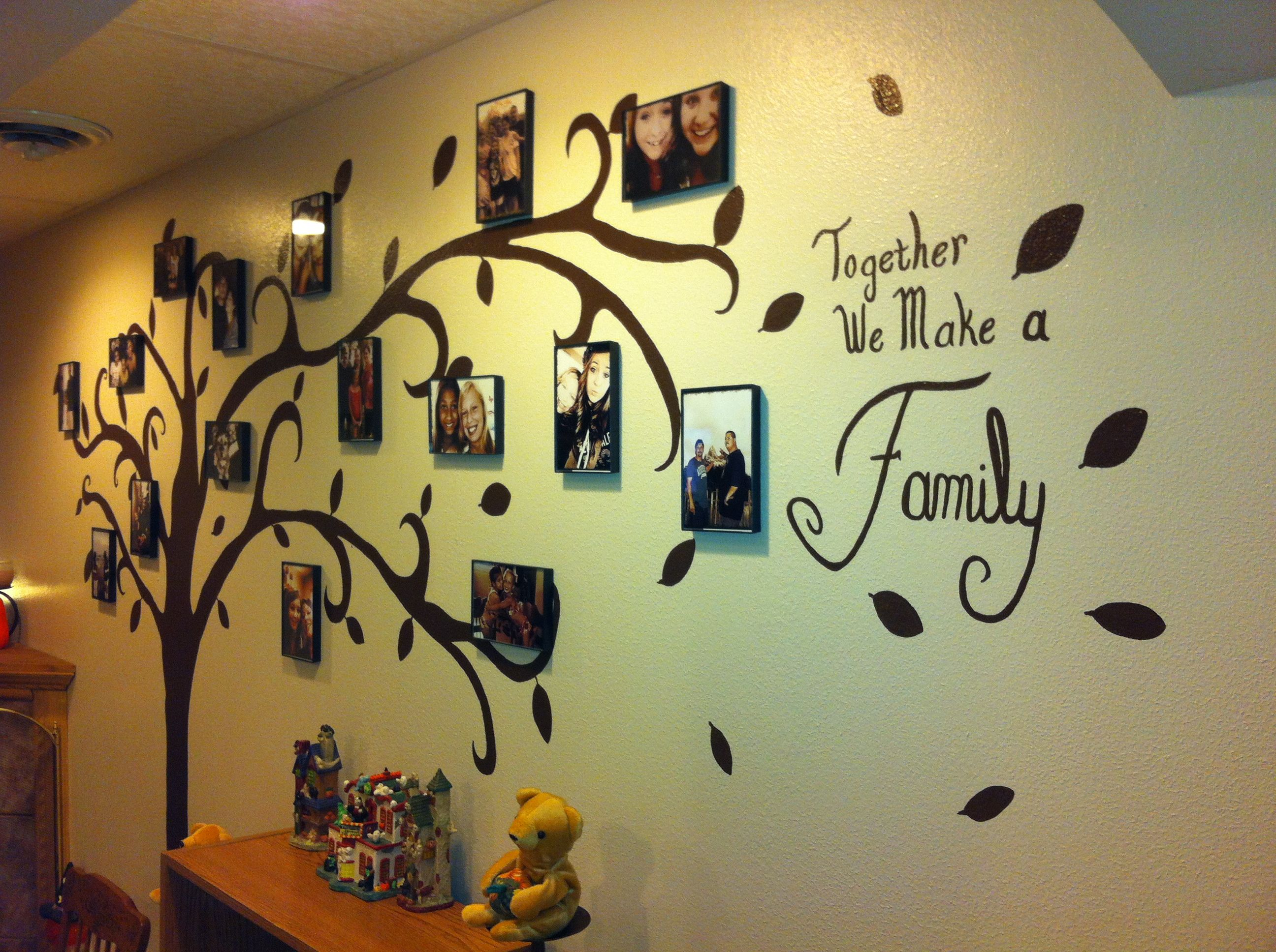 Family tree wall art omg I love this! We just cleared a wall where ...