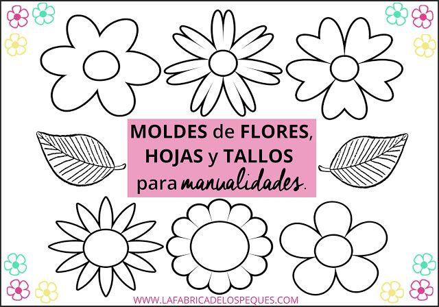 Moldes De Flores Hojas Y Tallos Para Manualidades Hojas