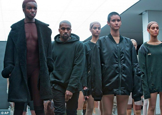 Here Comes The Man The Rapper Turned Designer Stalked Past The Rows Of Models Wearing Shr Kanye West Fashion Line Kanye West Style