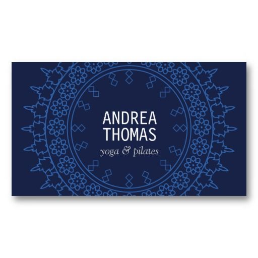 Elegant Lace-Inspired Decorative Circle Business Card Template for Yoga Instructors, Boutiques, Salons, Makeup Artists, Writers, Freelancers, etc.