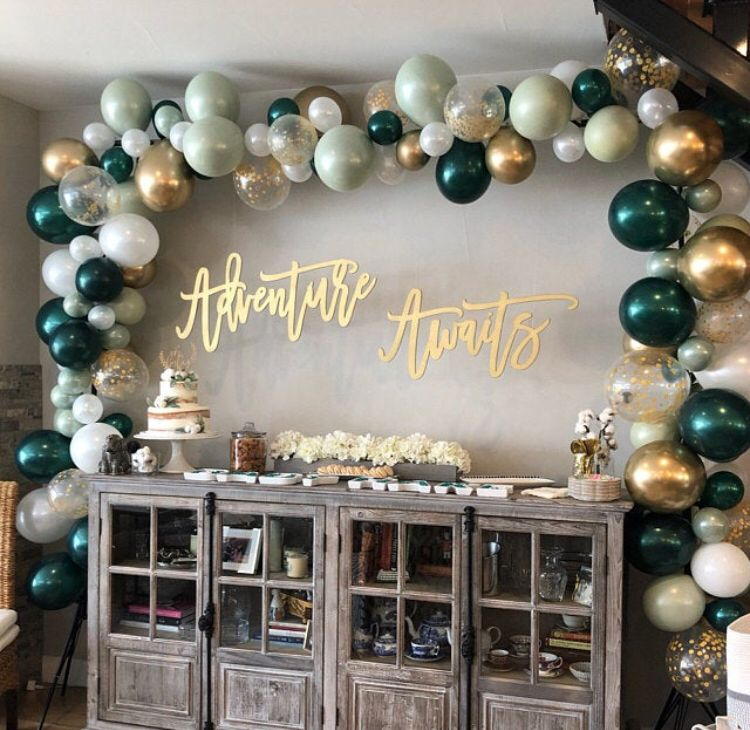 Green and White Balloons  Light Green Wedding Decor  Green | Etsy
