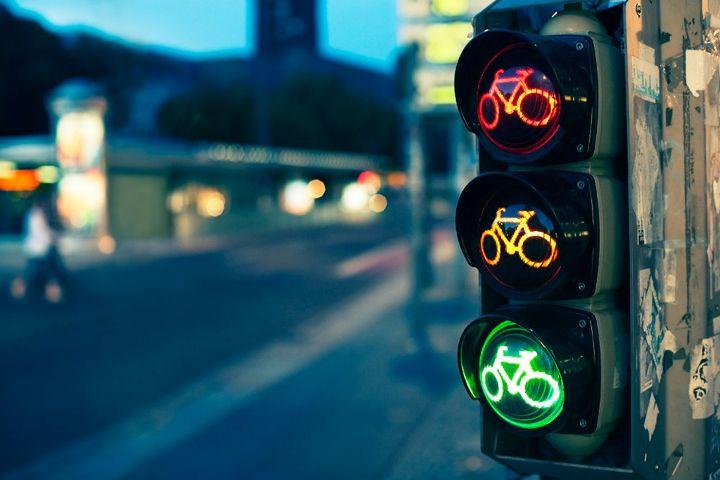 Bicycle traffic light.