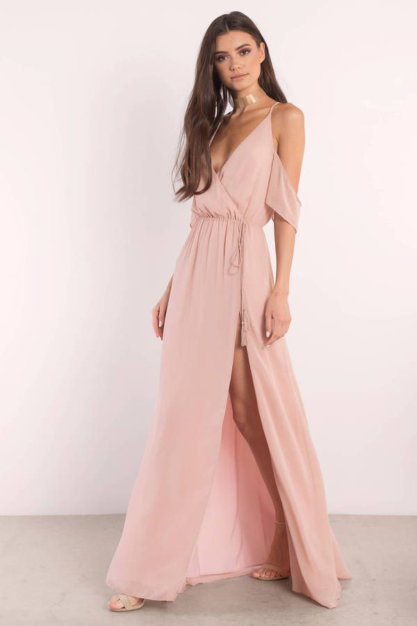 You need the Rhythm Cold Shoulder Maxi Dress. Featuring a side slit ...