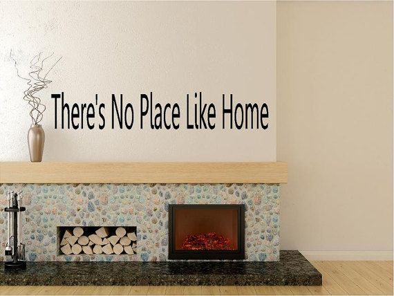 Theres No PlaceLike Home Vinyl Wall Decal Lettering Dining Room Kitchen Quote Made In America