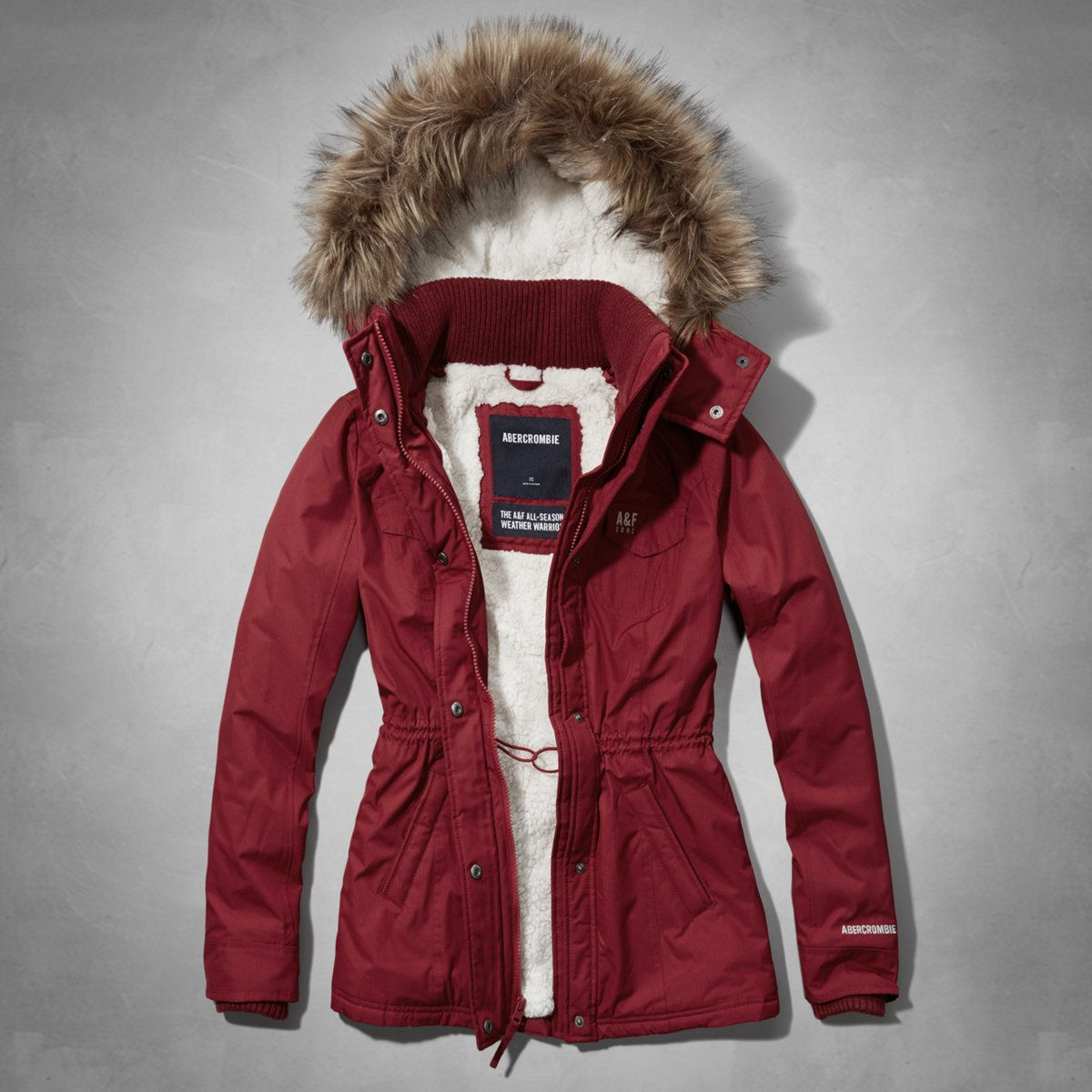 Abercrombie Accessories Abercrombie Accessories Abercrombie Womens Abercrombie Couple Abercrombie Womens: Womens A&F Sherpa Lined Weather Warrior Jacket