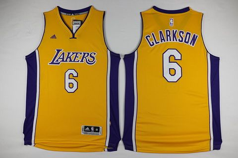 a07f19e197f Los Angeles Lakers  6 Jordan Clarkson Revolution 30 Swingman Yellow Jersey