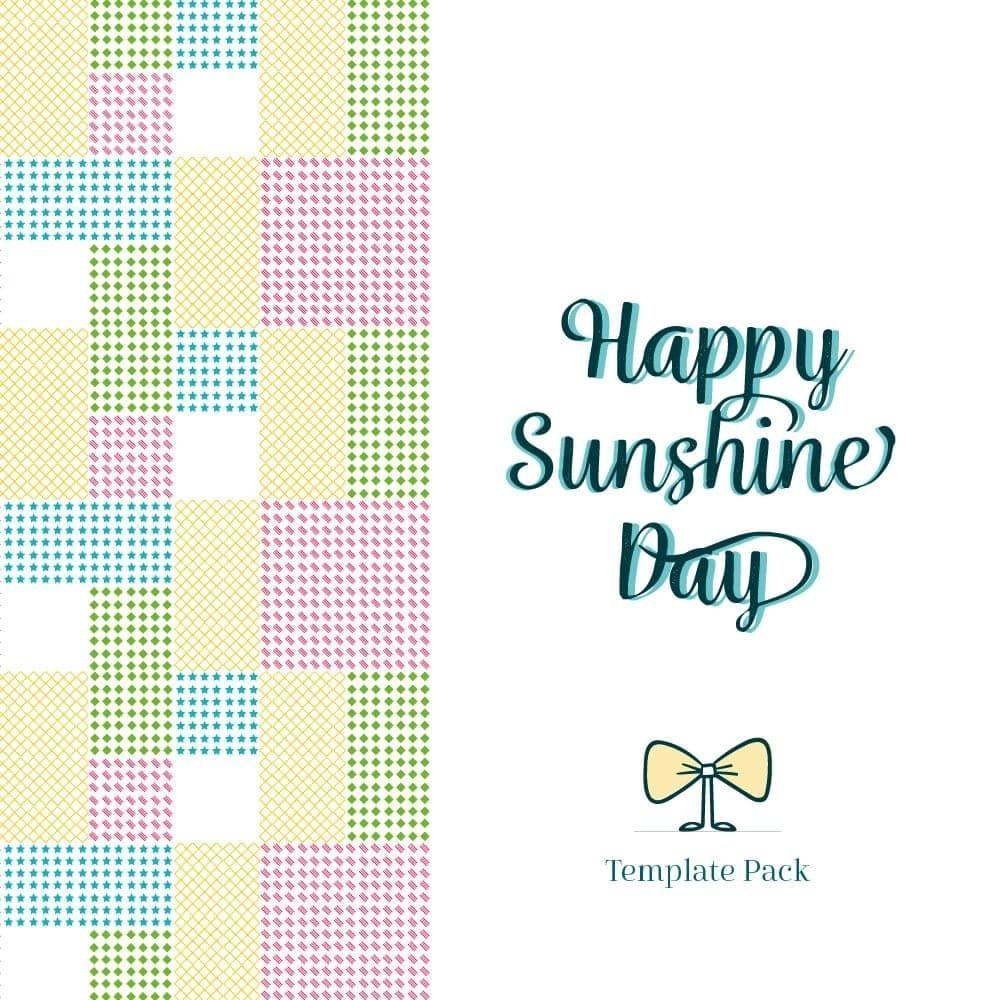 Happy Sunshine Day, Paquete de Plantillas By Clabii on Pagephilia ...