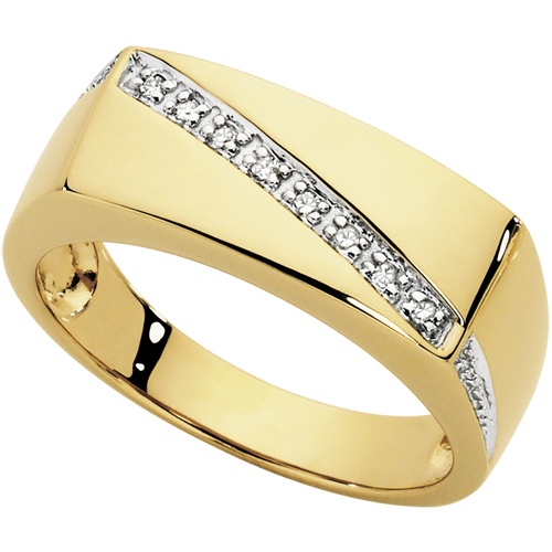 Michael Hill Diamond And Gold Mens Ring