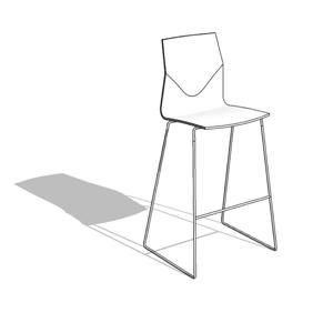 four cast high stacking bar stools hightower revit sketch up