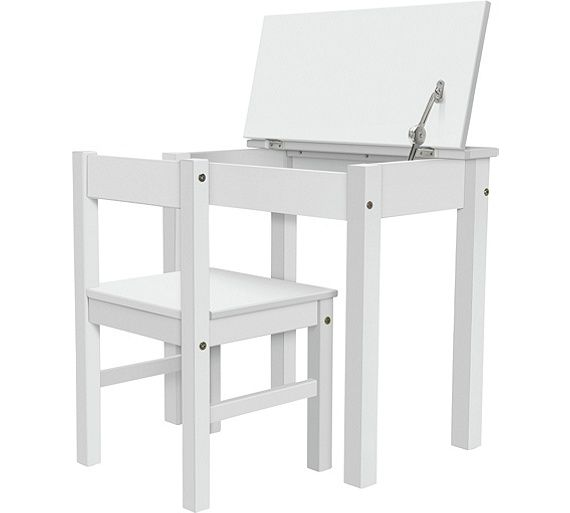 Argos Childrens Table And Chairs White: Buy Argos Home Scandinavia Desk & Chair - White