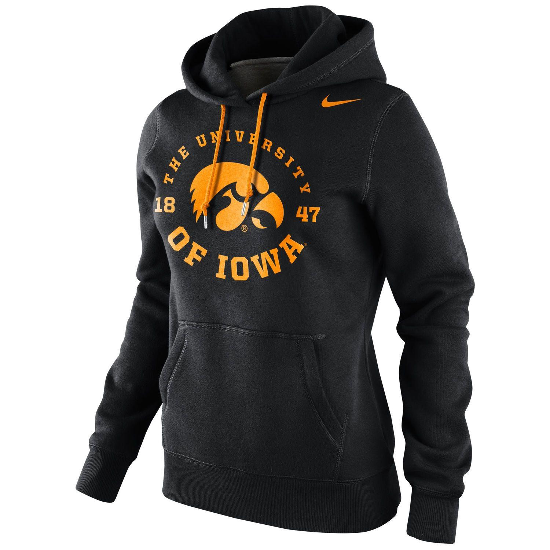 Nike Iowa Hawkeyes Women S School Stamp Pullover Hoodie Black Womens School State Clothes Hoodies [ 1500 x 1500 Pixel ]