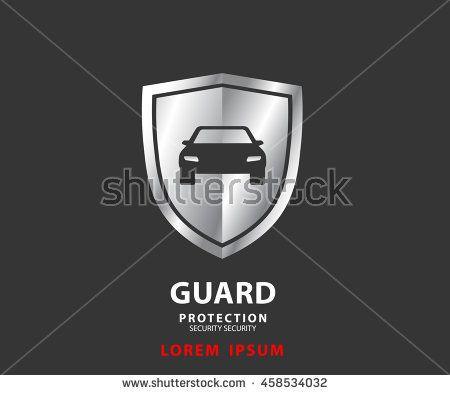 Vehicle Icon Shield Auto Car Guard Insurance Luxury Logo Vector Illustration