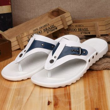 0f45208dc03d5 Men Summer Sandals Designer Shoes Man Zapatos Ni China Genuine Leather  Slipper Sapatos Black Blue White Yellow Size 38 to 44