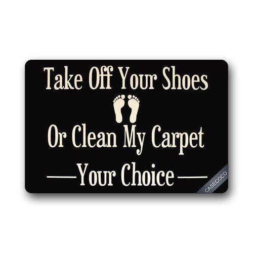 Custom Take Off Your Shoes Doormat Cover Rug Outdoor Indoor Floor Mats Non-Slip Machine Washable Decor Bathroom Mats