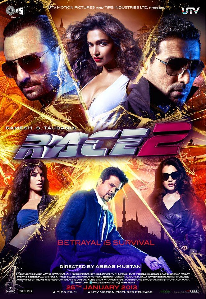 A Poster From Race 2 Movie Releases On January 25th Race 2 Movie Race 2 Hindi Movie 2 Movie