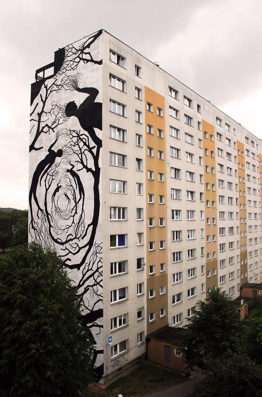 Street Art Made From Black Silhouettes Arte De Rua Grafiteiros