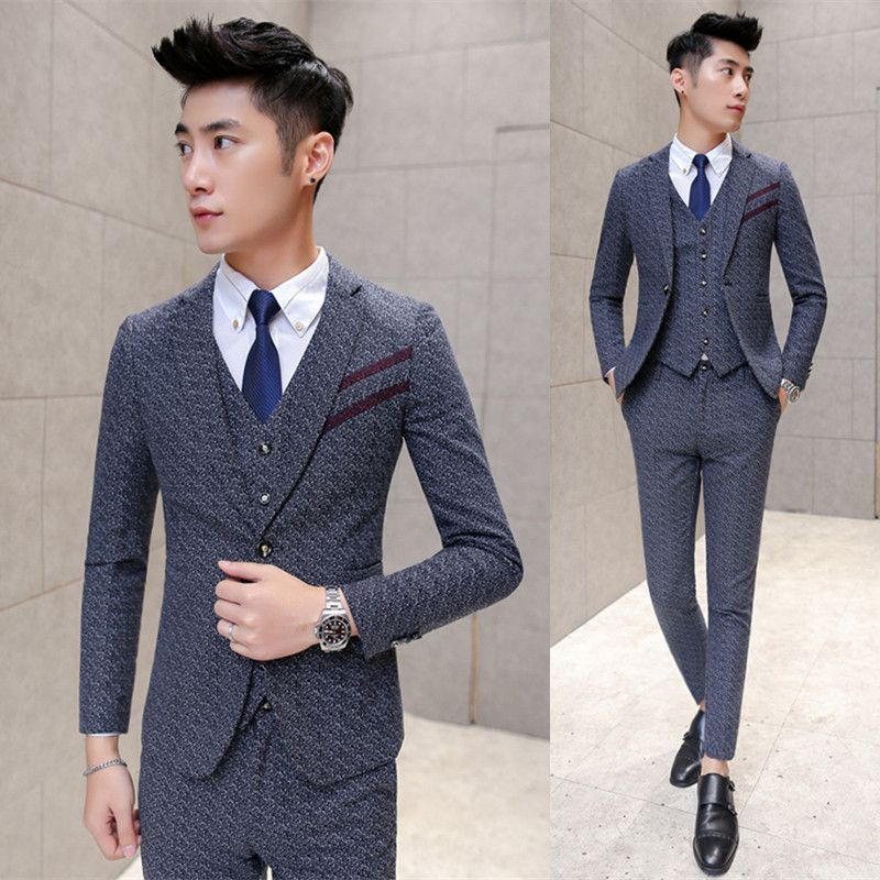 Click To Buy Jacket Vest Pant Formal Suit New Fall Winter