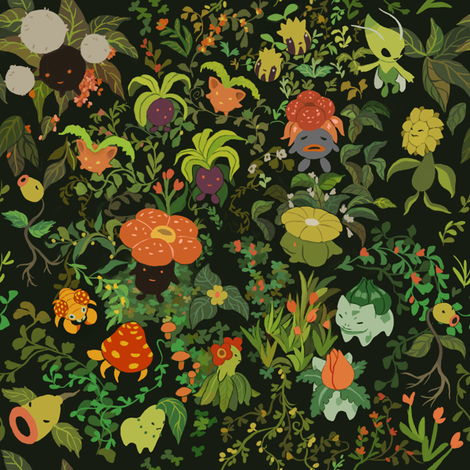 Ilex Forest fabric by alyssakorea on Spoonflower - custom fabric