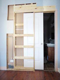 how to destroy your fears install a pocket door, diy, doors, home improvement