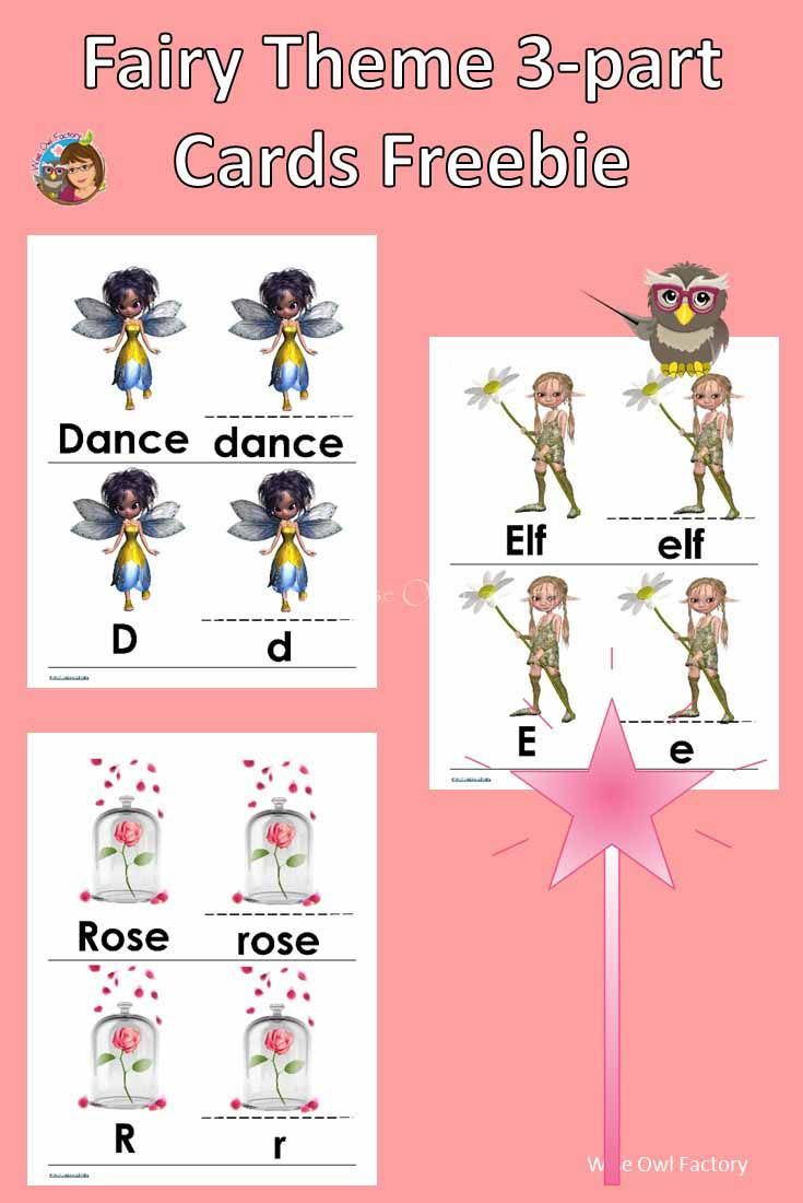 Fairy Theme 3-part Initial Sounds Alphabet Cards   Free Printable of ...
