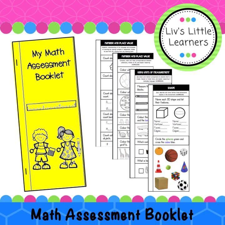 Foundation Math Assessment Booklet (Pre-Primary Australian ...